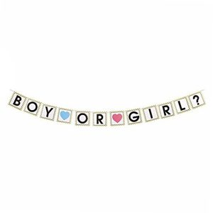 Boy or Girl Gender Reveal Slinger Wit Goud